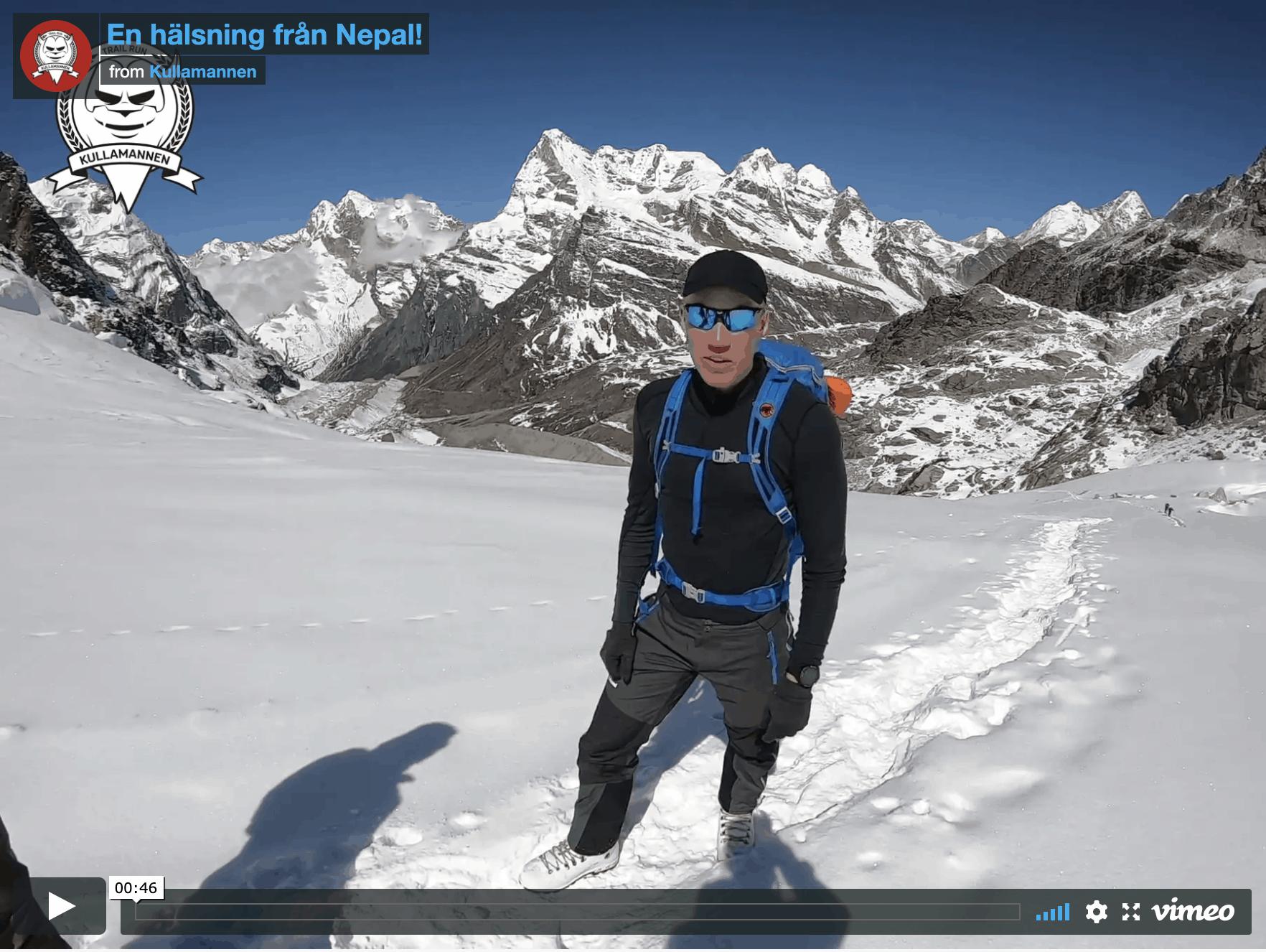 Patrik Wikström hälsar från Mount Mera i Nepal